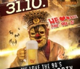 """We love the 90s Party"" am 31. Oktober ab 21 Uhr in der Stiegl-Brauwelt"
